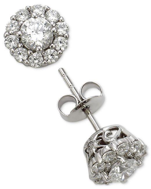 Marchesa - Metallic Diamond Cluster Stud Earrings (1 Ct. T.w.) In 18k White Gold - Lyst