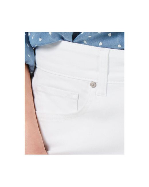 2b4ad4b17779 ... Style   Co. - White Cotton Petite Cuffed Capri Pants