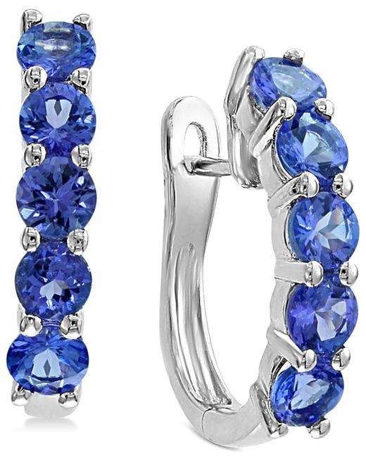 Effy Collection - Multicolor Effy® Tanzanite Hoop Earrings (2-1/5 Ct. T.w.) In Sterling Silver - Lyst