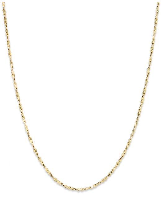 "Giani Bernini - Metallic 18k Gold Over Sterling Silver Necklace, 18"" Box Chain - Lyst"