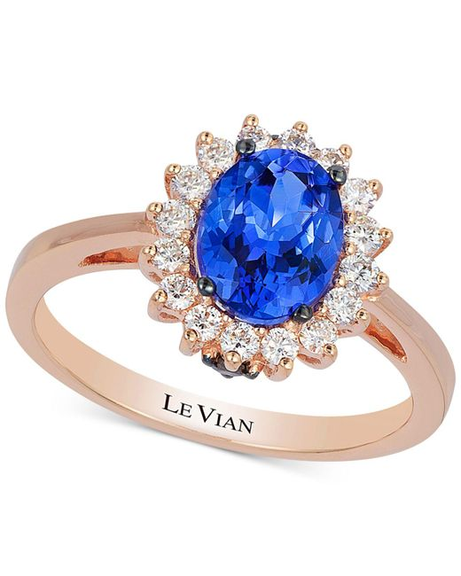 Le Vian - Metallic Tanzanite (1 Ct. T.w.) And Diamond (1/3 Ct. T.w.) Ring In 14k Rose Gold - Lyst