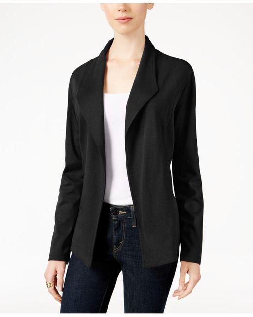Style & Co. | Black Open-front Long-sleeve Blazer | Lyst