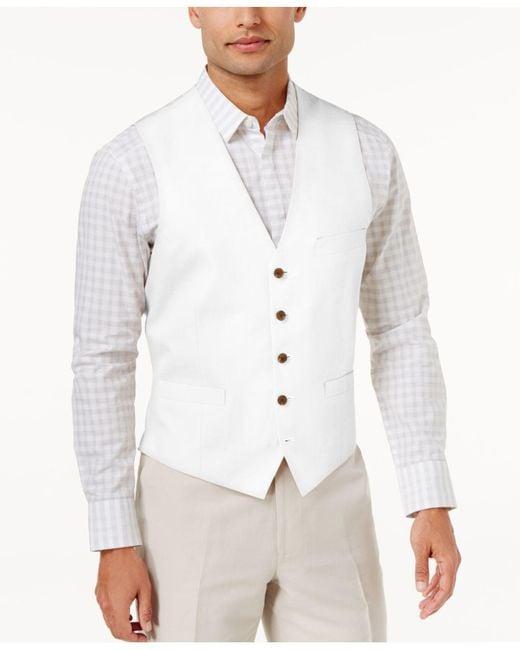 INC International Concepts - White Men's Nevin Vest for Men - Lyst