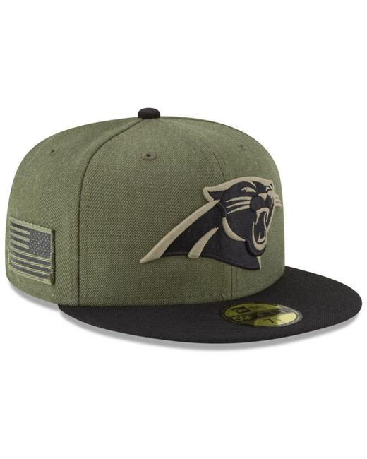 KTZ - Green Carolina Panthers Salute To Service 59fifty Fitted Cap for Men  - Lyst ... 16ee77c7038e
