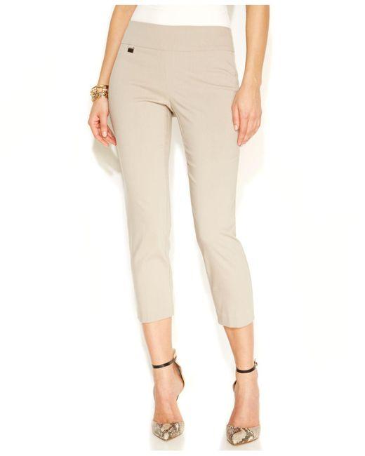 Alfani - Pink Skinny Pull-on Capri Pants - Lyst