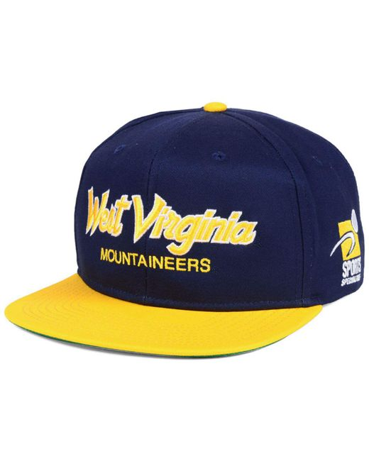729b5c4dfa3 Nike - Blue West Virginia Mountaineers Sport Specialties Snapback Cap for  Men - Lyst ...