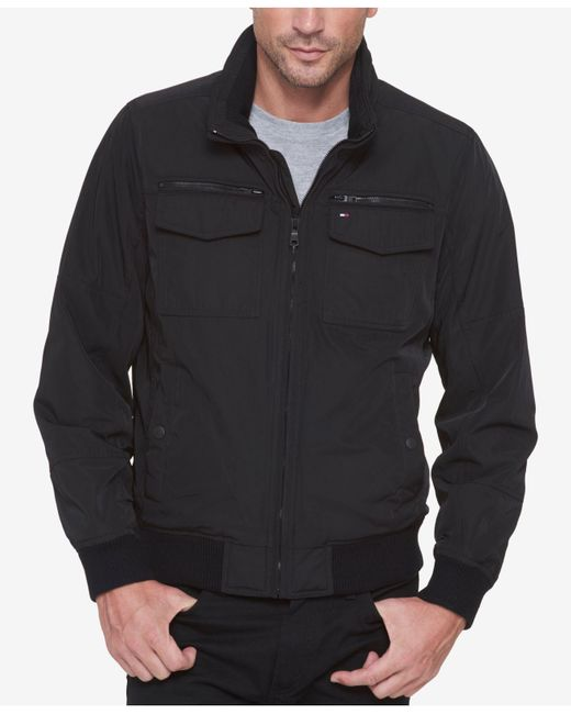 Tommy Hilfiger | Black Performance Bomber Jacket for Men | Lyst