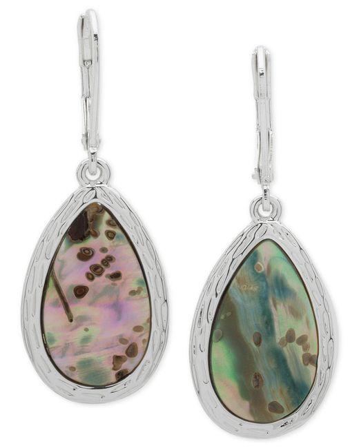 Nine West - Multicolor Silver-tone Colored Stone Drop Earrings - Lyst