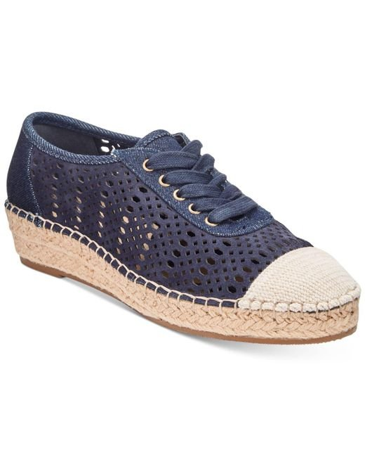 Bella Vita - Blue Clementine Lace-up Espadrilles - Lyst