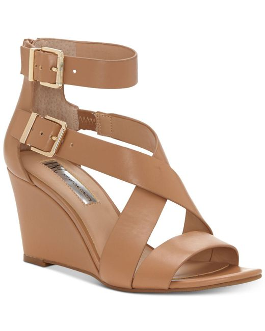 INC International Concepts | Brown Rominia Wedge Sandals | Lyst