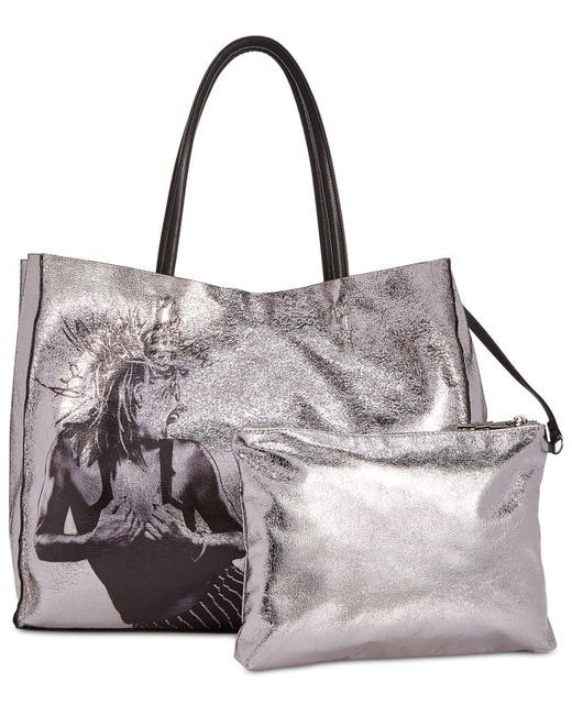Betsey Johnson - Metallic In A Flash Large Shopper Tote With Pouch - Lyst
