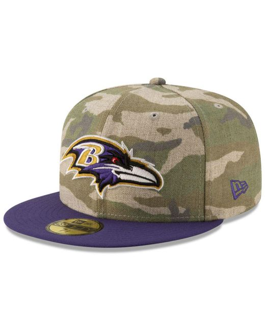 KTZ - Green Baltimore Ravens Vintage Camo 59fifty Fitted Cap for Men - Lyst  ... dd68d2fcf129