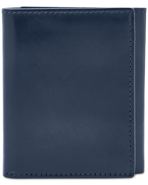 Fossil - Blue Paul Rfid Trifold Wallet for Men - Lyst
