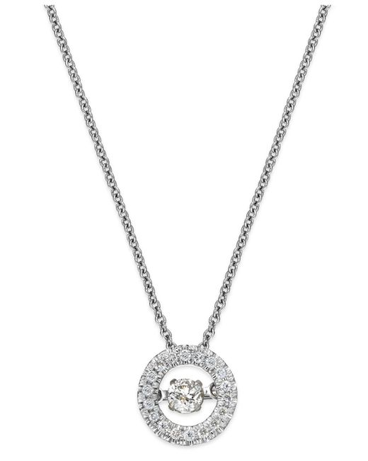 Twinkling Diamond Star | Metallic Diamond Circle Pendant Necklace In 10k Gold (1/4 Ct. T.w.) | Lyst