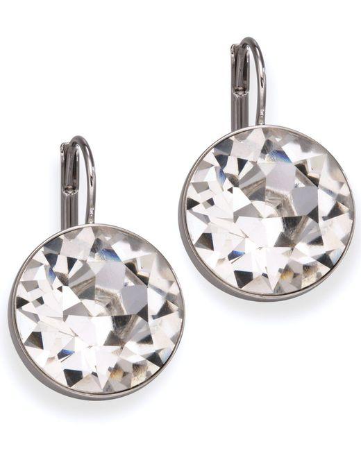 Swarovski - White Earrings, Bella Crystal Drops - Lyst