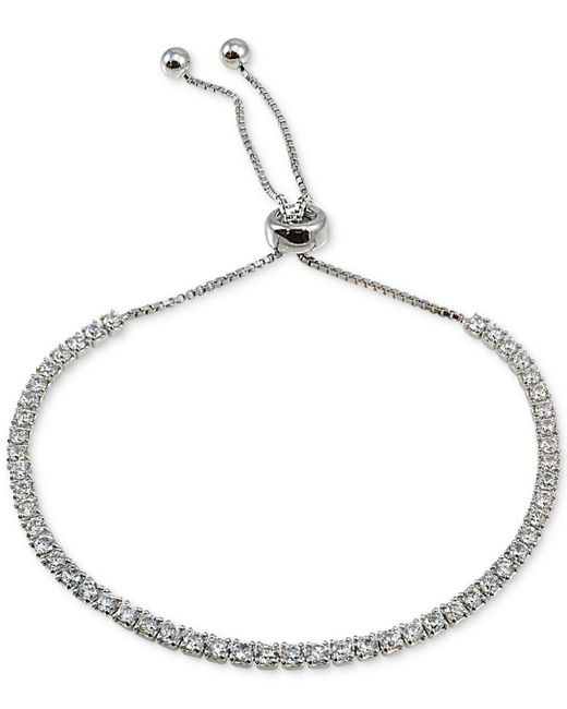 Giani Bernini - Metallic Cubic Zirconia Slider Bracelet In Sterling Silver, Created For Macy's - Lyst