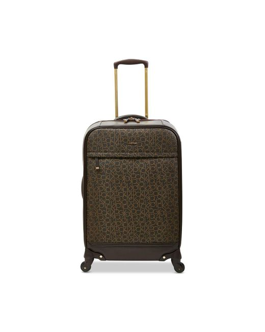 "Calvin Klein - Brown Mulberry 24"" Softside Spinner Suitcase - Lyst"