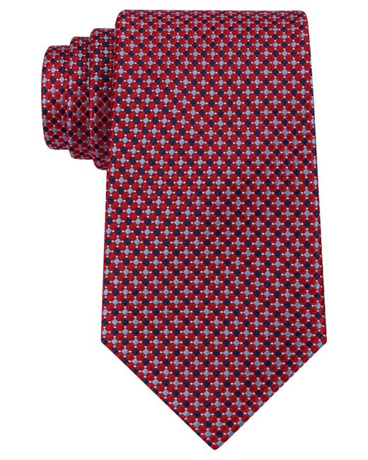 Tommy Hilfiger Red Tie, Core Micro Unsolid Solid for men