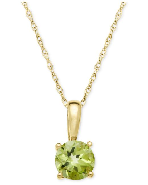 Macy's - Metallic Citrine Pendant Necklace In 14k Gold (5/8 Ct. T.w.) - Lyst