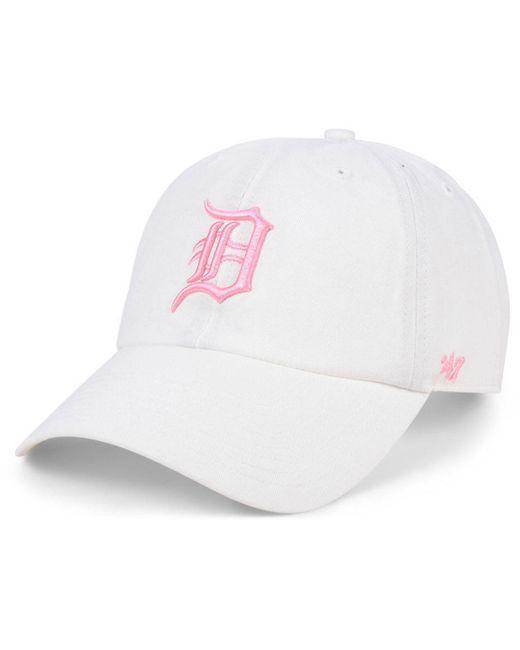 half off e9e37 6ffd8 47 Brand - Detroit Tigers White Rose Clean Up Cap - Lyst ...