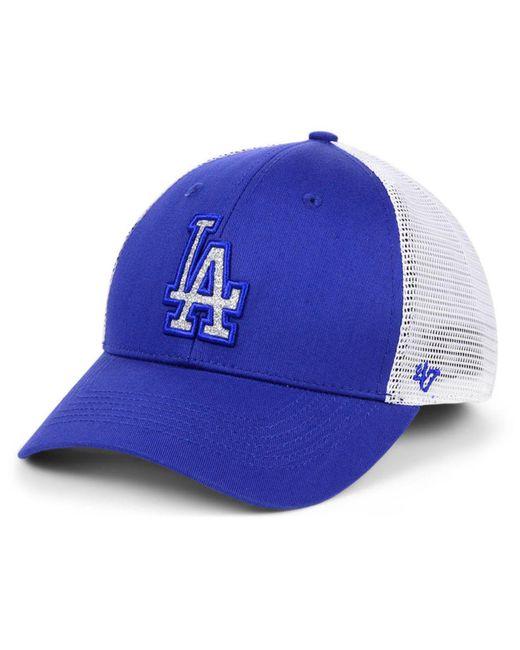 new concept a2957 eaaa1 47 Brand - Blue Los Angeles Dodgers Branson Glitta Trucker Strapback Cap -  Lyst ...