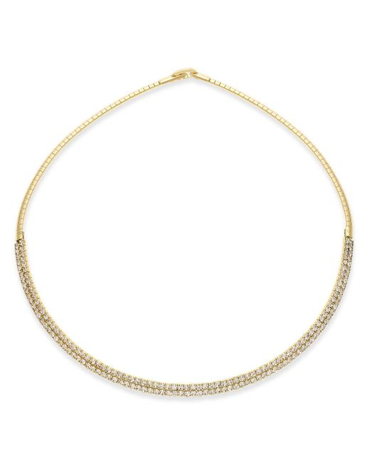 INC International Concepts | Metallic Silver-tone Crystal Collar Necklace | Lyst