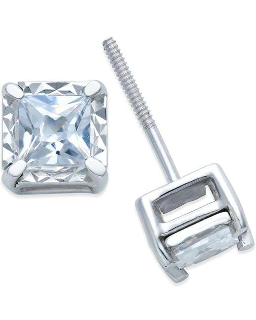 Macy's - Metallic Diamond Stud Earrings (3/4 Ct. T.w.) In 14k White Gold - Lyst