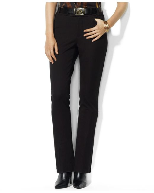 Pink Pony | Black Twill Slimming Straight Pant | Lyst