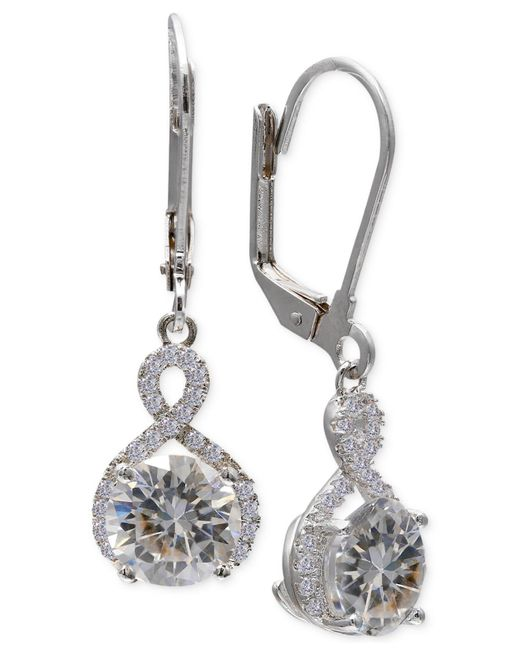 Giani Bernini - Multicolor Cubic Zirconia Infinity Leverback Earrings In Sterling Silver - Lyst