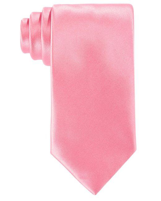 Perry Ellis - Black Sateen Solid Tie for Men - Lyst