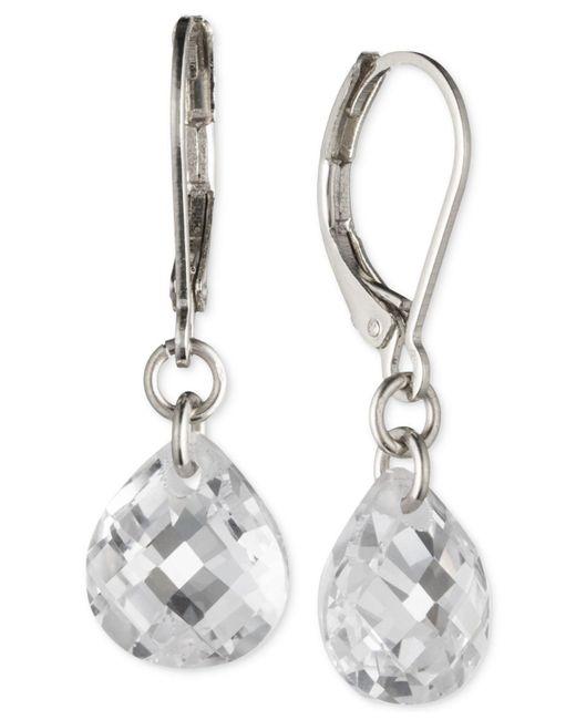 Lonna & Lilly - Metallic Silver-tone Crystal Drop Earrings - Lyst
