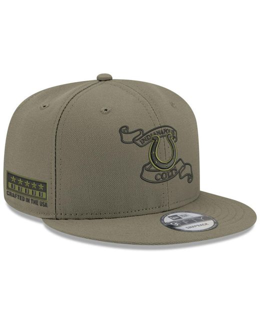 9b575ebc7dc KTZ - Green Indianapolis Colts Crafted In The Usa 9fifty Snapback Cap for  Men - Lyst ...
