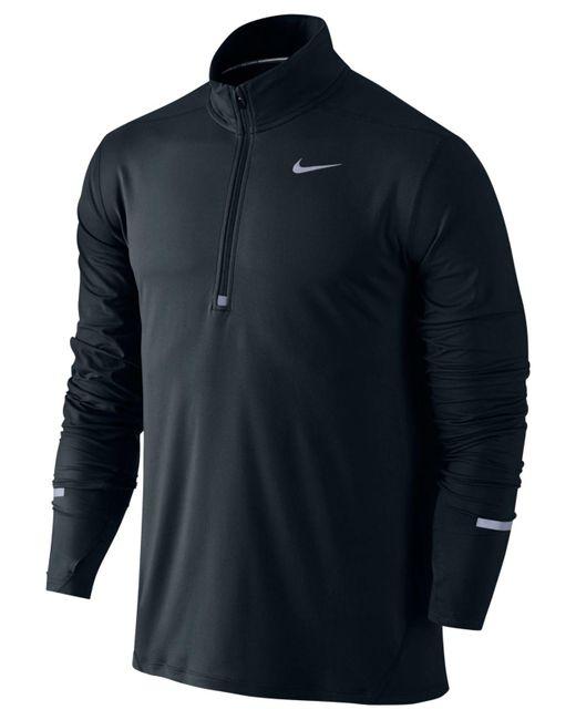Nike   Black Element Dri-fit Half-zip Running Shirt for Men   Lyst