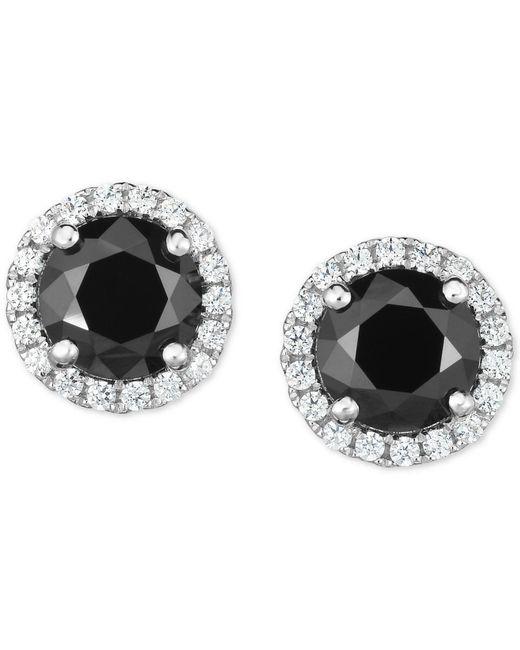Arabella - Metallic Zirconia Halo Stud Earrings In Sterling Silver - Lyst