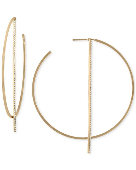 RACHEL Rachel Roy - Metallic Gold-tone Stick Hoop Earrings - Lyst