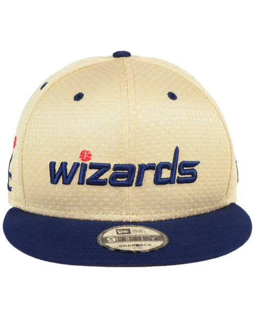 27936fd843b60 ... wholesale ktz blue washington wizards champagne 9fifty snapback cap for  men lyst 47027 3a336