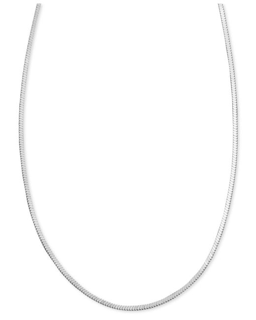 """Giani Bernini - Metallic Sterling Silver Necklace, 24"""" Square Snake Chain - Lyst"""