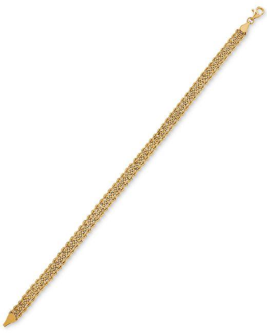 Macy's - Metallic Fancy Link Bracelet In 10k Gold - Lyst
