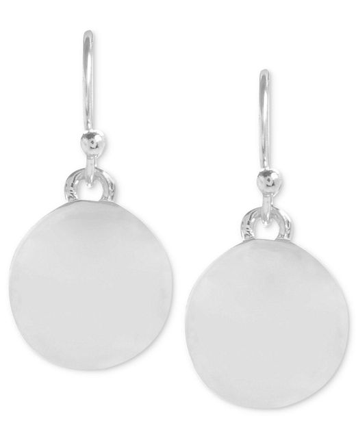 Kenneth Cole | Metallic Earrings, Silver-tone Circle Drop Earrings | Lyst