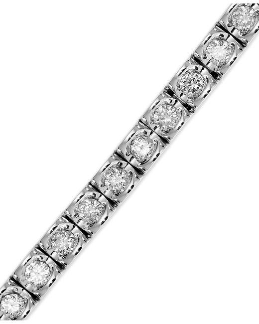 Macy's - Metallic Diamond Bracelet In (3-5/8 Ct. T.w.) 14k White Gold - Lyst