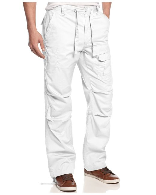 Sean John | White Men's Pleat Pocket Flight Cargo Pants for Men | Lyst