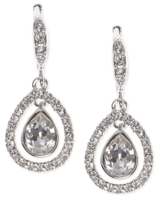 Givenchy - Metallic Crystal Orbital Pavé Drop Earrings - Lyst