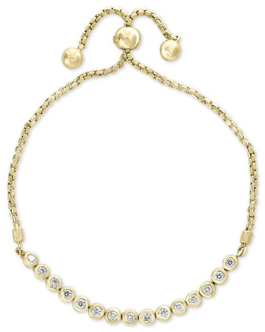 Effy Collection - Metallic Bubbles By Effy® Diamond Bezel Bolo Bracelet (5/8 Ct. T.w.) - Lyst