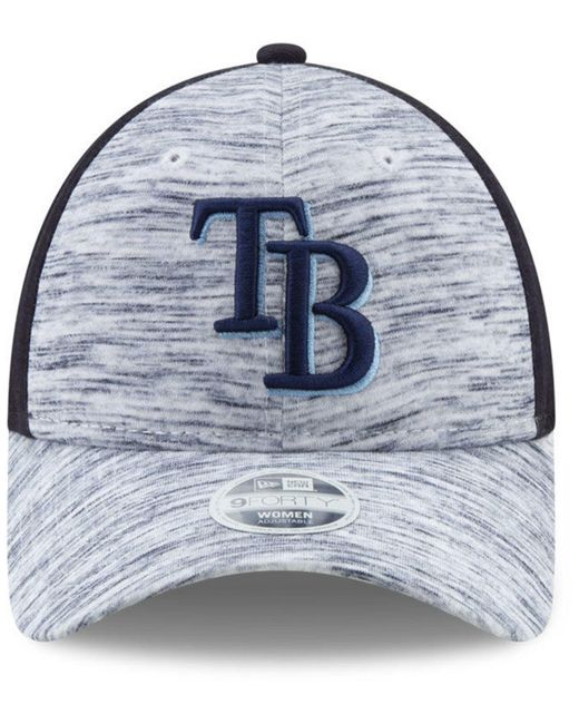 best website 7195a a1a88 ... KTZ - Blue Tampa Bay Rays Space Dye 9forty Cap - Lyst ...