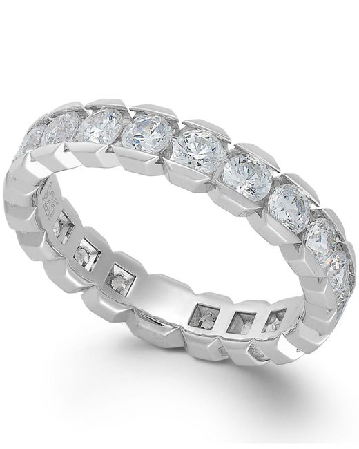 Macy's | Diamond Box Eternity Band In 14k White Gold (2 Ct. T.w.) | Lyst