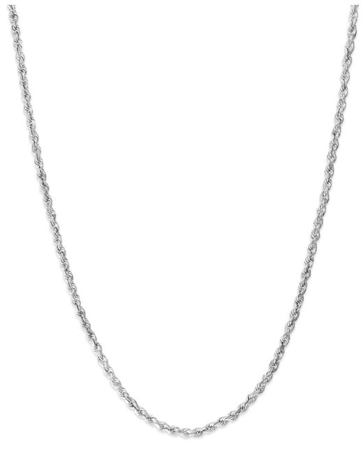 Macy's - Multicolor 14k White Gold Seamless Chain Necklace - Lyst
