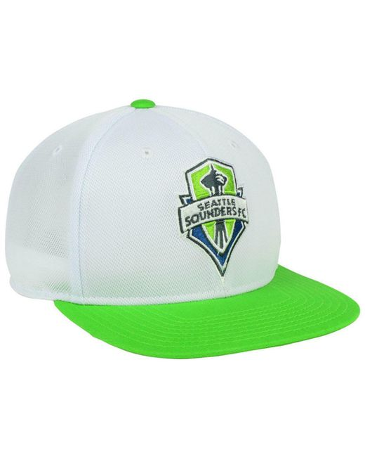 ee050963d85 ... buy adidas green seattle sounders fc 2tone snapback cap for men lyst  9b0bb 97474