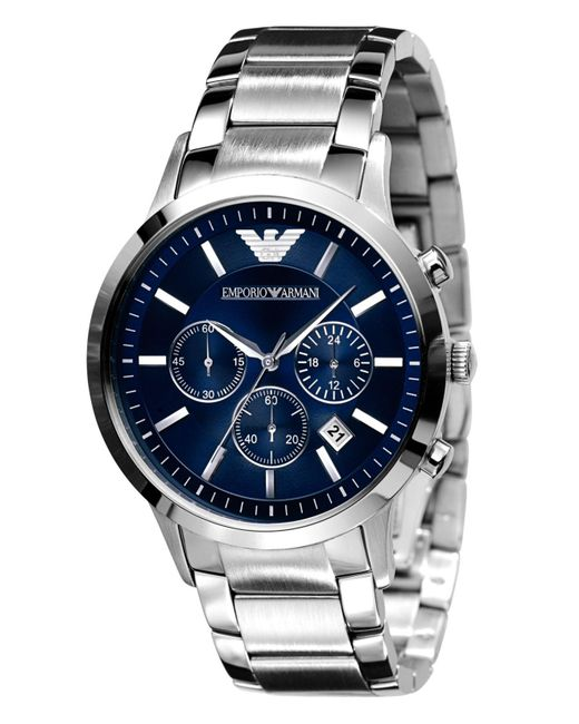 Emporio Armani - Gray Stainless Steel Bracelet Ar2448 for Men - Lyst
