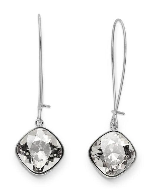 Swarovski | Metallic Earrings, Rhodium-plated Crystal Drop Earrings | Lyst