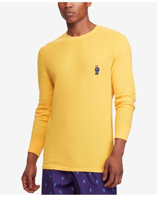 Polo Ralph Lauren - Yellow Men's Waffle-knit Pajama Shirt for Men - Lyst